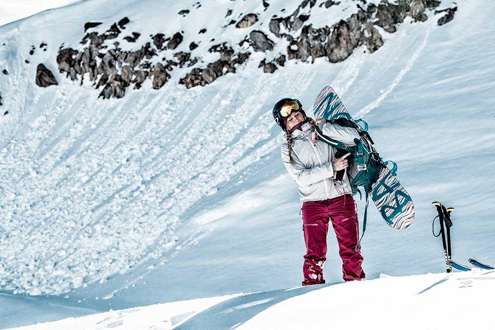 Snowboarding Mammut